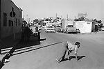 Quadrupedal adult man hand walking Mazatlan Mexico 1972. Also known as Unertan syndrome.  &quot;Dr Nick Humphrey the leading authority on Quadrupedal humans says of these photograpahs are the &quot;&quot;...earliest record I know of.&quot;&quot;