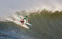 Evan Slater, Grant Twiggy Baker. Mavericks Surf Contest in Half Moon Bay, California on February 13th, 2010.