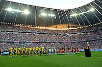 FUSSBALL   1. BUNDESLIGA   SAISON 2012/2013   SUPERCUP FC Bayern Muenchen - Borussia Dortmund            12.08.2012 Uebersicht in der Allianz Arena mit beiden Teams