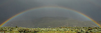 rainbow panoramic with sage brush