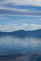 """Lake Tahoe Blues"" - Photograph of the very blue waters and sky of Lake Tahoe."