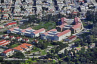 aerial photograph Lucasfilm Letterman Digital Arts Center Presidio San Francisco