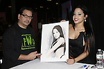 Artist The Mimik of www.mimiksan.com Presents His artwork of Adult Actress Abella Anderson to Abella Anderson at EXXXOTICA NEW JERSEY 2014, EDISON NJ