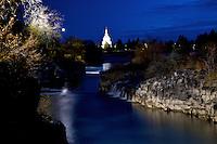 Evening at The Falls at Idaho Falls