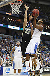 Freshman guard John Wall makes a lay up during the second half of UK's second round  win, 90-60 over Wake Forest in the NCAA tournament at New Orleans Arena on Saturday, March 20, 2010. Photo by Britney McIntosh | Staff