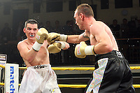 Colin Lynes defeats Bobby Gladman in Quarter-Final 3 of Prizefighter The Welterweights II at York Hall, promoted by Matchroom Sports - 07/06/11 - MANDATORY CREDIT: Gavin Ellis/TGSPHOTO - Self billing applies where appropriate - Tel: 0845 094 6026