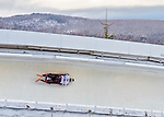 9 January 2016: Dave Greszczyszyn, competing for Canada, slides through Curve 14 on his second run of the day during the BMW IBSF World Cup Skeleton Championships at the Olympic Sports Track in Lake Placid, New York, USA. Greszczyszyn ended the day with a combined 2-run time of 1:50.83 and a 10th place overall finish. Mandatory Credit: Ed Wolfstein Photo *** RAW (NEF) Image File Available ***