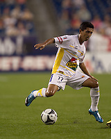 Monarcas Morelia forward Elias Hernandez (77) shifts direction. The New England Revolution defeated Monarcas Morelia in SuperLiga 2010 group stage match, 1-0, at Gillette Stadium on July 20, 2010.