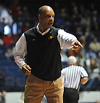 "LSU' head coach Trent Johnson gives instructions against Mississippi at the C.M. ""Tad"" Smith Coliseum in Oxford, Miss. on Saturday, February 25, 2012. (AP Photo/Oxford Eagle, Bruce Newman).."