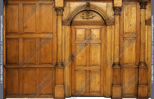 Victorian Architecture Door And Paneling Stock Photo