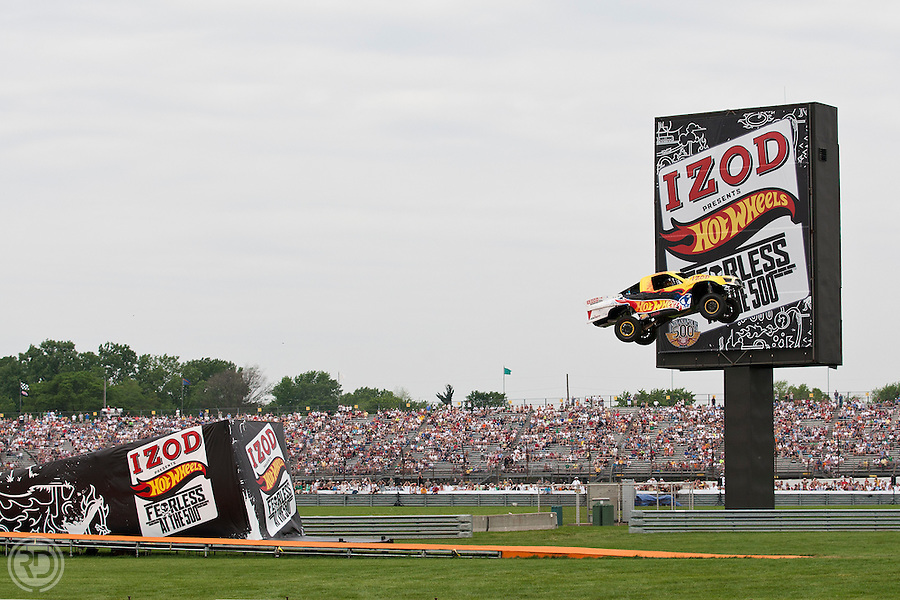 IZOD Presents Hot Wheels Fearless event at the 500 on Sunday, May 29, 2011, in Indianapolis. (Ross Dettman/AP Images for Mattel)