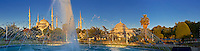 Panorama of The Sultan Ahmed Mosque (Sultanahmet Camii) or Blue Mosque, Istanbul, Turkey. Built from 1609 to 1616 during the rule of Ahmed I.