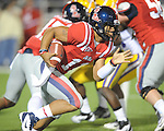 Ole Miss' Barry Brunetti (11) vs. LSU at Vaught-Hemingway Stadium in Oxford, Miss. on Saturday, November 19, 2011..