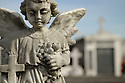 Angel, New Orleans, Louisiana, blue sky, Copyright Frank Aynami,