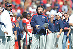 Ole Miss head coach Houston Nutt vs. Arkansas at Vaught-Hemingway Stadium in Oxford, Miss. on Saturday, October 22, 2011. .