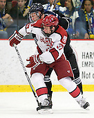 Brett Hartung (Bentley - 10), Desmond Bergin (Harvard - 37) - The Harvard University Crimson defeated the visiting Bentley University Falcons 5-0 on Saturday, October 27, 2012, at Bright Hockey Center in Boston, Massachusetts.