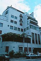 Robert Mallet-Stevens: Cite Mallet-Stevens, detail. Rue Mallet-Stevens, Paris. Admired Hoffmann. Designed 6 houses on this street. Photo '90.