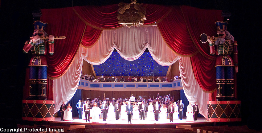 My design for the Christmas show in the BSO's Meyerhoff Music Hall. This is a production photo from the final dress<br />
