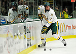 12 December 2009: University of Vermont Catamount defenseman Kyle Medvec, a Junior from Burnsville, MN, in first period action against the St. Lawrence University Saints at Gutterson Fieldhouse in Burlington, Vermont. The Catamounts shut out their former ECAC rival Saints 3-0. Mandatory Credit: Ed Wolfstein Photo