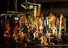 The Pearl Fishers <br /> English National Opera <br /> London Coliseum, London, Great Britain <br /> Rehearsal <br /> 13th June 2014 <br /> Music by Georges Bizet 1838-1875<br /> directed by Penny Woolcock <br /> <br /> Sophie Bevan as Leila, Priestess of Brahma<br /> <br /> John Tessier as Nadir<br /> <br /> George von Bergen as Zurga<br /> <br /> Barnaby Rea as Nourabad, High Priest of Brahma