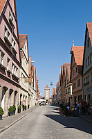 Galgengasse, Rothenburg ob der Tauber, Franconia, Bavaria, Germany