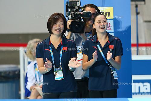 (L) Mayuko Fujiki (CHN), JULY 29, 2015 - Synchronised Swimming : 16th FINA World Championships Kazan 2015 Solo Free Routine Final at Kazan Arena in Kazan, Russia. (Photo by Yohei Osada/AFLO SPORT)
