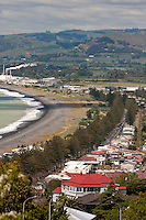 Napier Town and Beach from Napier Bluff,  north island, New Zealand.