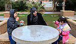 Aisha al-Baroud, 44, a Palestinian woman with breast cancer plays with her children in the northern Gaza stirp on Feb. 13, 2017. al-Baroud with breast cancer for more three years makes artificial breasts for mastectomy survivors for free, and she dosen't completed her treatment in Israeli hospitals because Israeli rejection. according health information center, breast cancer comes first By 17.8% of total cancer cases in Gaza strip. Photo by Khaled Abu Alouf