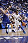 UK guard A'dia Mathies goes towards the basket during the second half of the women's basketball game v. Depaul University in Rupp Arena in Lexington, Ky., on Sunday, December 7, 2012. Photo by Genevieve Adams | Staff