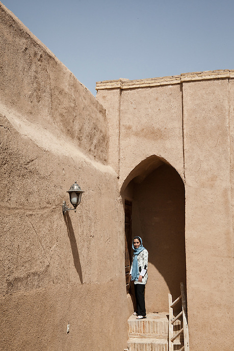 Iranian Woman at the old house in Yazd