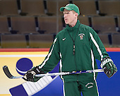 Dave Hakstol (North Dakota Head Coach) - The 2008 Frozen Four participants practiced on Wednesday, April 9, 2008, at the Pepsi Center in Denver, Colorado.
