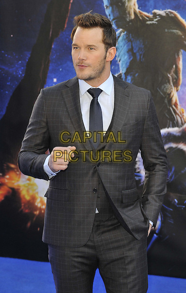 LONDON, ENGLAND - JULY 24: Chris Pratt attends the 'Guardians Of The Galaxy' UK film premiere, The Empire cinema, Leicester Square, on Thursday July 24, 2014 in London, England, UK. <br /> CAP/CAN<br /> &copy;Can Nguyen/Capital Pictures