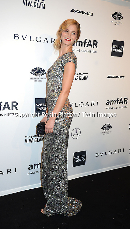 Erin Heatherton attends the amfAR New York Gala on February 5, 2014 at Cipriani Wall Street in New York City.