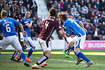 Hearts v St Johnstone&hellip;19.03.16  Tynecastle, Edinburgh<br />Murray Davidson scores his second goal<br />Picture by Graeme Hart.<br />Copyright Perthshire Picture Agency<br />Tel: 01738 623350  Mobile: 07990 594431