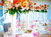 Wedding flowers at Viansa Winery in Sonoma, CA.