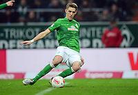 FUSSBALL   1. BUNDESLIGA   SAISON 2012/2013    22. SPIELTAG SV Werder Bremen - SC Freiburg                                16.02.2013 Nils Petersen (SV Werder Bremen) erzielt das Tor zum 2:2