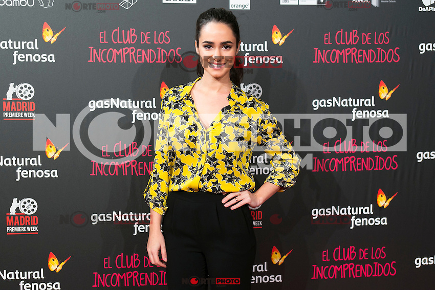 Alicia Sanz attend the Premiere of the movie &quot;El club de los incomprendidos&quot; at callao Cinema in Madrid, Spain. December 1, 2014. (ALTERPHOTOS/Carlos Dafonte) /NortePhoto<br /> /NortePhoto