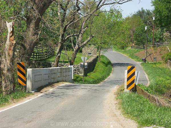 One lane bridge, Loudoun County Virginia.