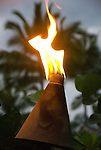 Hand made pathway torch, Kona Village, Hawaii
