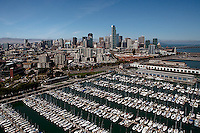 aerial photograph South Beach marina, San Francisco, California