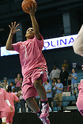 Lucas warms up in Pink Zone gear