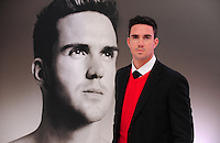 Cricketing star Kevin Pietersen is unveiled as the new celebrity Brylcreem Boy. Future Gallery, Great Newport Street...