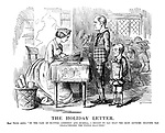 The Holiday Letter. Royal Mistress (writes). 'In the case of Masters Aberdeen and Russell, I regret to say that the most extreme idleness has characterised the whole half-year.'