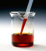 BROMINE IN CARBON TETRACHLORIDE<br /> Alkene/Alkane Test (1 of 2)<br /> A 1% solution of bromine in carbon tetrachloride is prepared by adding 1ml of bromine to 99ml of carbon tetrachloride. A dropper is used to remove solution.