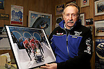 WOLCOTT, CT05 January 2006-010506TK01  Frank Briglia is one of the original members of a team of 4 Greater Waterbury residents that have designed and built the bobsled that the U>S> Olympic team has used in past Olympics. Their designed and constructed bobsled in the greater Waterbury area will be used again in the Winter Olympics to be held in Turin Italy in February.  Tom Kabelka / Republican-American (Frank Briglia)CQ