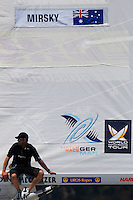 Bowman Graeme Spence waiting for wind on finals day at Match Race Germany 2010. World Match Racing Tour. Langenargen, Germany. 24 May 2010. Photo: Gareth Cooke/Subzero Images/WMRT