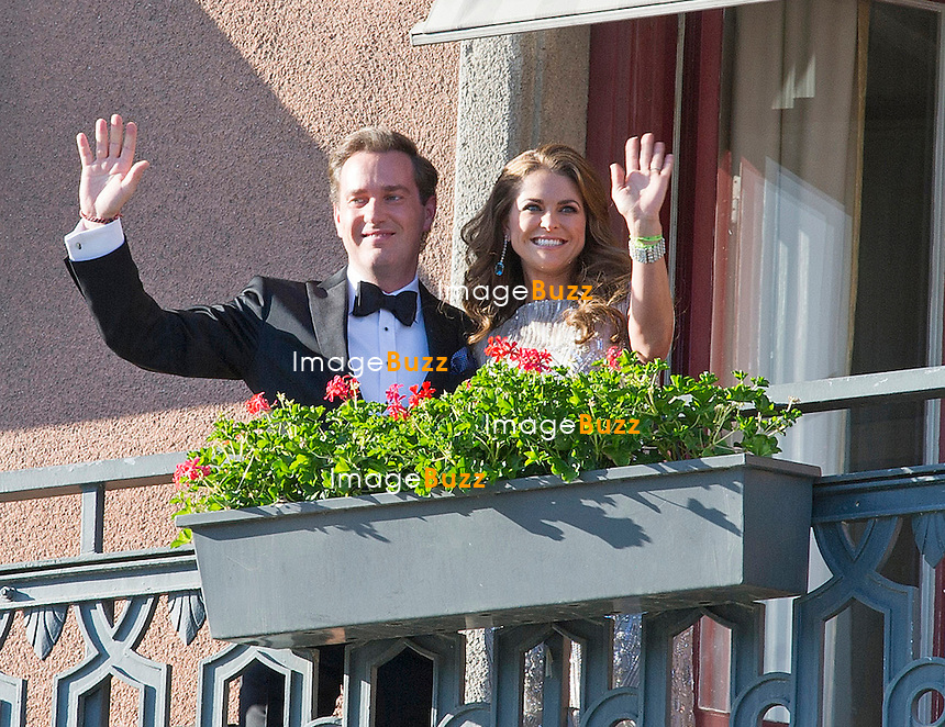 PRINCESS MADELEINE AND CHRISTOPHER O'NEILL<br /> attend a Pre-Wedding Dinner at the Grand Hotel, Stockholm, Sweden_07/06/2013
