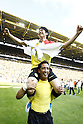Shinji Kagawa (Dortmund), MAY 14th, 2011 - Football : Shinji Kagawa of Dortmund celebrates with Lucas Barrios after the Bundesliga match between Borussia Dortmund and Eintracht Frankfurt at the Signal Iduna Park on 14 May 2011, in Dortmund, Germany. (Photo by AFLO) [3604]...