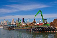 Newton Creek, Scrap Metal Barge, Queens, New York City, New York, USA