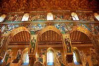 Byzantine mosaics at the Palatine Chapel ( Capella Palatina ) Norman Palace Palermo, Sicily, Italy